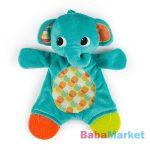 Bright Starts Rágóka játék Snuggle&Teethe Elefánt