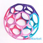 Lyukas készségfejlesztő labda - Oball Lila Rózsaszín