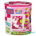 Mega Bloks - 80 db lányos építőkocka táskában