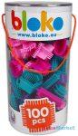 Mochtoys Bloko 100 db-os lányos tüskés építőjáték hengerben