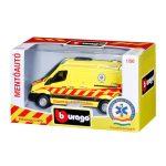 Bburago magyar mentőautó - Volkswagen Crafter 1:50