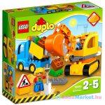 LEGO DUPLO: Teherautó és lánctalpas exkavátor 10812