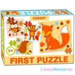 Első baby puzzle - erdei állatok