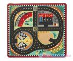 Melissa & Doug -  szőnyeg gyerekszobába - 100X90 cm, Versenypálya