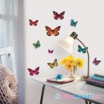RoomMates 3D pillangók falmatrica