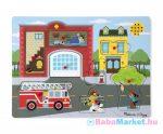 Melissa & Doug - Hangos puzzle - Tűzoltóállomás