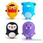 Munchkin CleanSqueeze™ spriccelős fürdőjáték - pingvin & rozmár / búvár & cápa