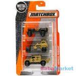 Matchbox - 3 darabos kisautó készlet - katonai járművek