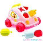 Cotoons: formaválogató autó, rózsaszín