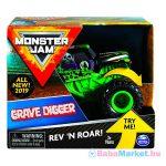 Monster Jam: Grave Digger hátrahúzhatós kisautó
