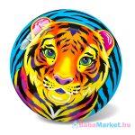 Tigris mintás gumilabda - 14 cm