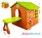 Madárkás nagy kerti játszóház asztallal