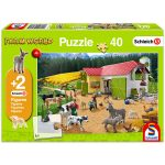 Schmidt: Egy nap a farmon 40 darabos puzzle 2 darab ajándék Schleich figurával