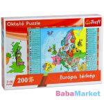 Európa 200 db-os oktató puzzle