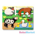 Melissa and Doug: tapintós puzzle - farm