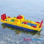 Giplam Autószállító komp nagy műanyag játékhajó
