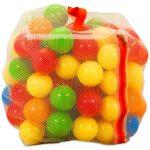 Műanyag 100 darabos labda zárható hálóban