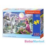 A hercegnő és az unikornisok 120 darabos puzzle
