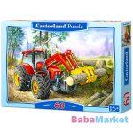 Rönkgyűjtő traktor - 60 darabos puzzle