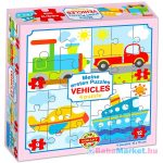 Járművek 4 az 1-ben puzzle