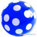 Kék pöttyös gumilabda hálóban - 22 cm