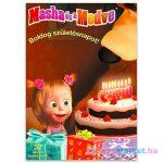 Masha és a Medve: Boldog Születésnapot! kifestő matricákkal