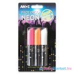 Amos: 3 darabos sötétben világító arcfesték - neon színekben