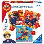 Ravensburger: Sam a tűzoltó 110 darabos 3 az 1-ben puzzle