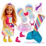 Barbie Dreamtopia: Chelsea szivárványos ruhában