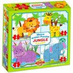 Dzsungel 4 az 1-ben puzzle