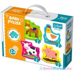 Trefl: kisállatok a farmon 3-4-5-6 darabos baba puzzle