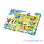 Trefl Baby: Számos vonatok 15 darabos maxi puzzle