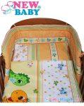 3 részes baba ágyneműhuzat - New Baby 100/135 cm narancssárga dinóval