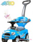 Zenélő bébitaxi tolókarral - Bayo Super Coupe blue