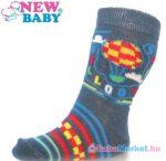 Csecsemő pamut zokni - New Baby szürke sky baloon 62 (3-6 hó)