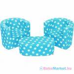 Gyermek ülőgarnitúra - New Baby csillagok kék