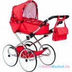 Játék babakocsi - Retro New Baby Elen piros