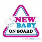 Baba az autóban matrica - New Baby on board New Baby