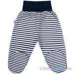 Baba lábfejes nadrág -  New Baby Classic II kék csíkokkal68 (4-6 h)