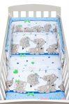 2 részes baba ágyneműhuzat - New Baby 100/135 cm kék elefántos