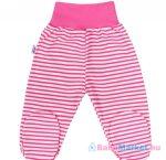 Baba lábfejes nadrág New Baby Classic II rózsaszín csíkokkal 56 (0-3 h)