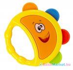 Gyerek csörgődob Baby Mix sárga