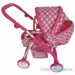 Játékbabakocsi - 2az1-ben Baby Mix rózsaszín - szivecskés
