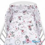 3-részes ágyneműhuzat New Baby 90/120 cm fehér virág és toll