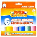 MaxxCreation: 6 darabos tömzsi színes aszfaltkréta - színes