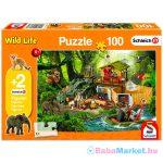 Schmidt: vadállatok 100 darabos puzzle ajándék Schleich figurákkal