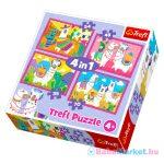Trefl: Nyaraló lámák 4 az 1-ben puzzle