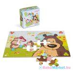 Nici: grizzly medve és süni mintás, 30 darabos puzzle