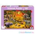 Schmidt: Afrikai állatok 150 db-os puzzle