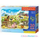 Állatok a farmon 20 darabos maxi puzzle